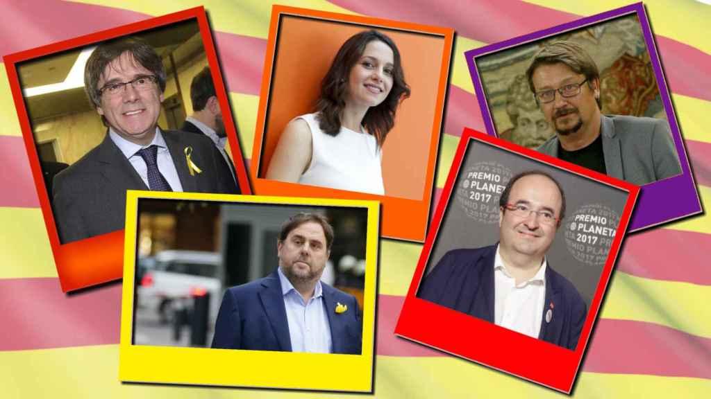 Todos ellos concurren como cabeza de lista a las elecciones del 21 de diciembre.