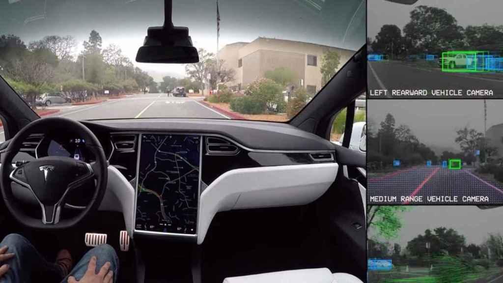Autopilot en un Tesla Model S