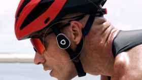 omni casco ciclista bicicleta auriculares de conduccion osea destacada