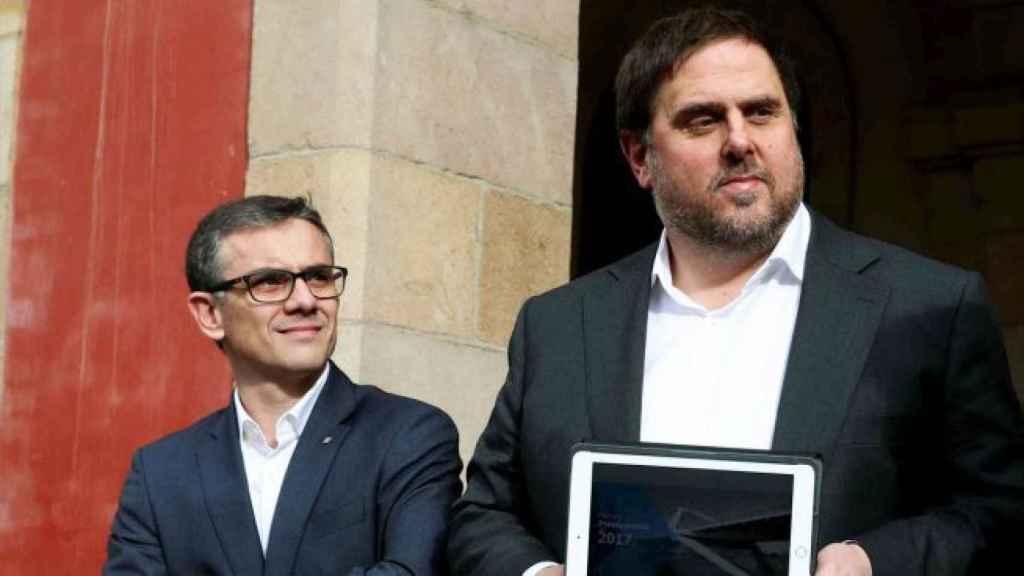 Josep María Jové y Oriol Junqueras