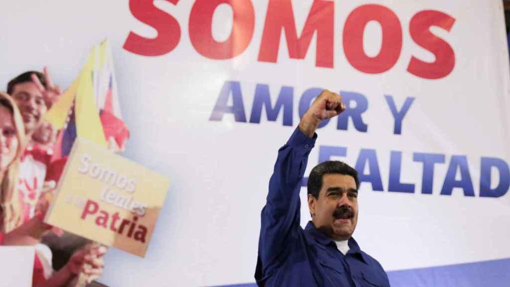 Nicolás Maduro en un evento en La Guaira, Venezuela.