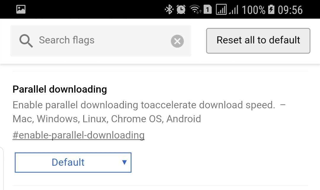 descargas paralelas google chrome 64 android