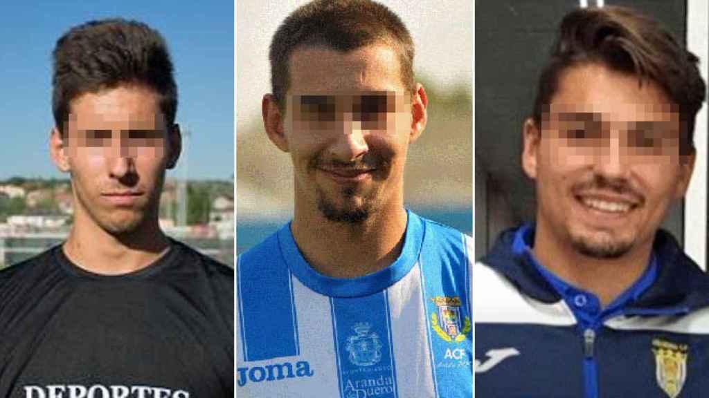 Los tres jugadores detenidos.