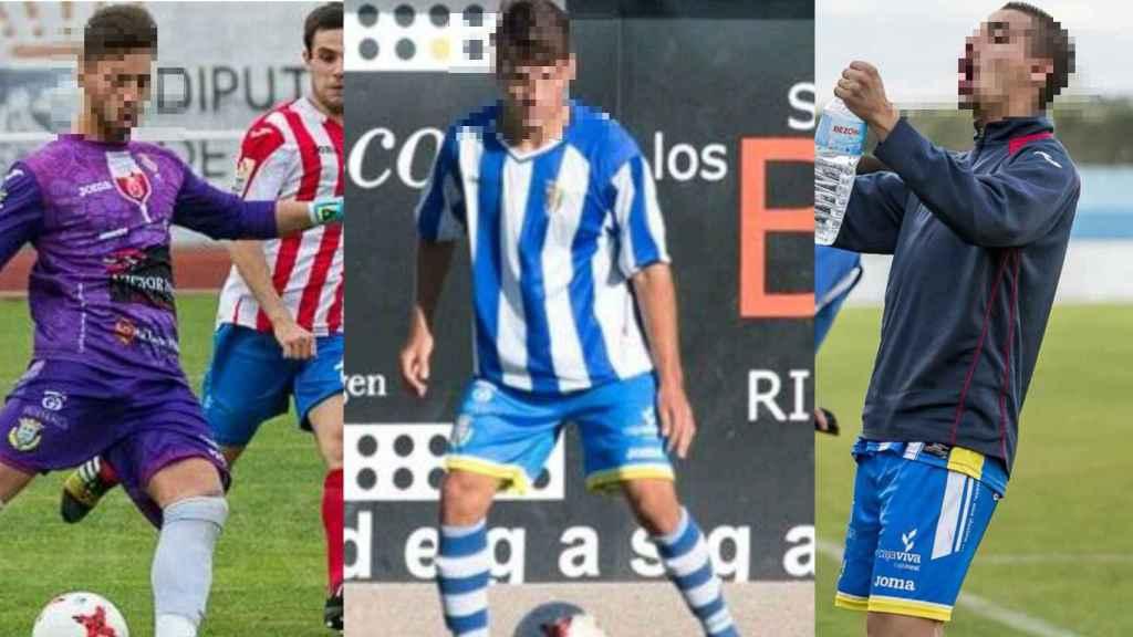 Viti, Raúl y Lucho, futbolistas detenidos.