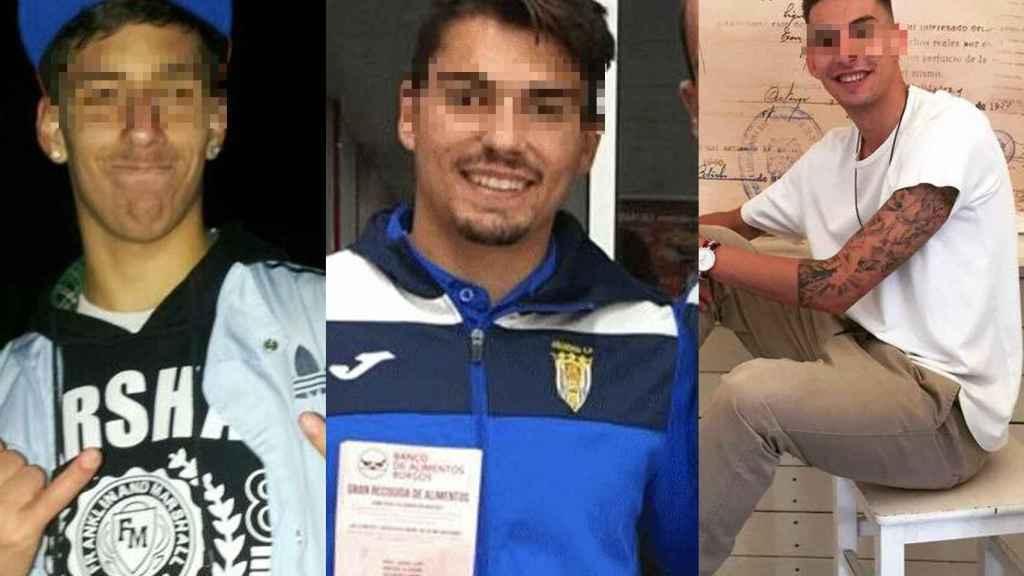Viti, Calvo y Lucho, los tres futbolistas de la Arandina.