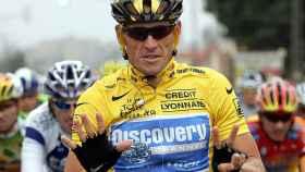 Lance Armstrong tras ganar su séptimo y último Tour de Francia.
