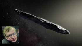 La representación de Oumuamua / Stephen Hawking