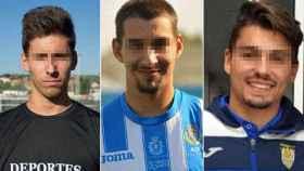Los tres futbolistas de la Arandina.