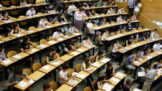 Un aula de una Universidad española.