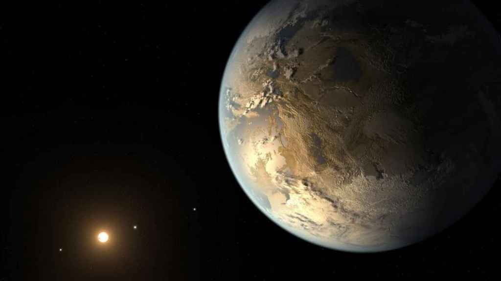 Imagen del primer exoplaneta descubierto por la NASA denominado Kepler-186.