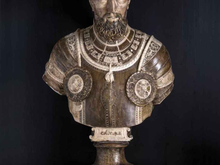El busto de Carlos V a la venta.
