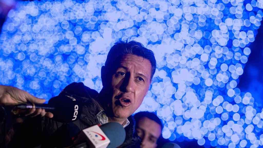 Xavier García Albiol, en un acto de campaña electoral.