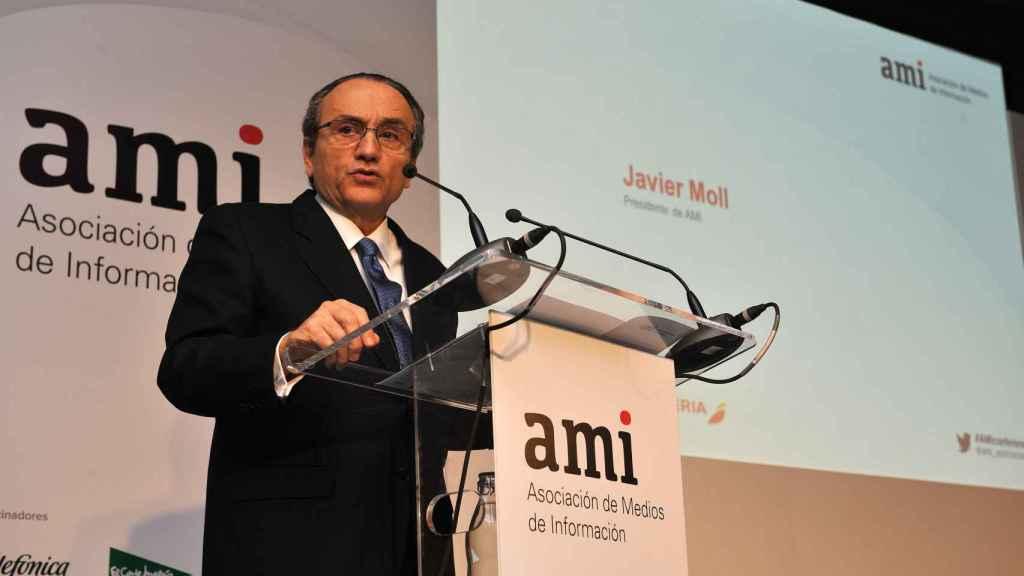 Javier Moll, durante la presentación del Libro Blanco de la Información.