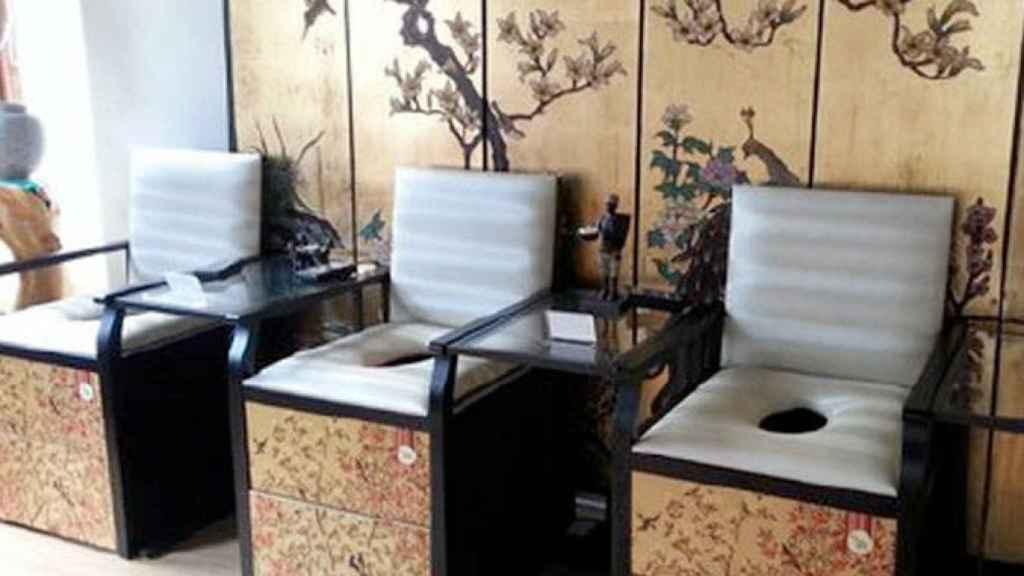 Los tronos de v-steam en el balneario de referencia de Gwyneth Paltrow.