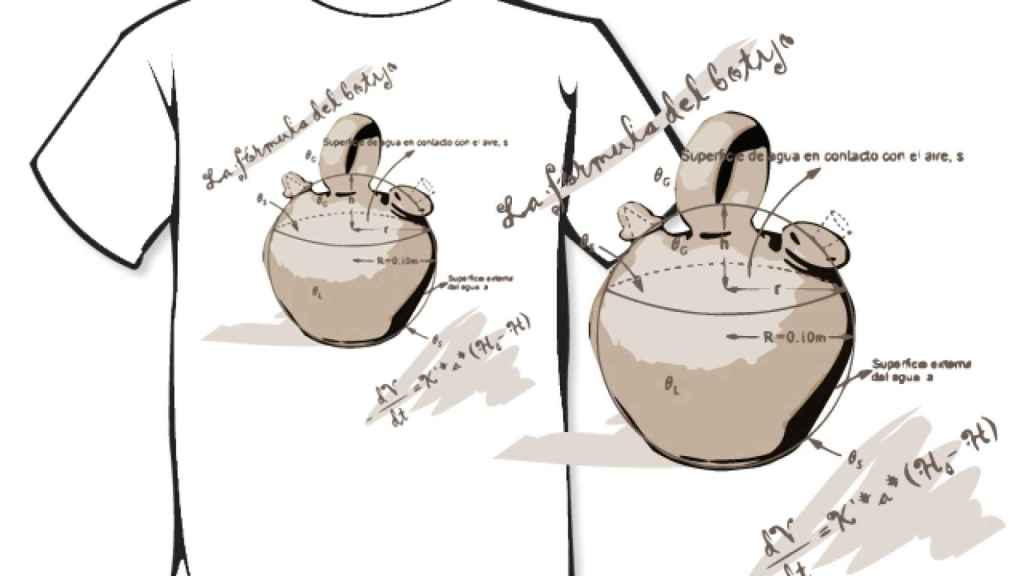 Uno de los diseños que se venden con la fórmula (incompleta) del botijo.