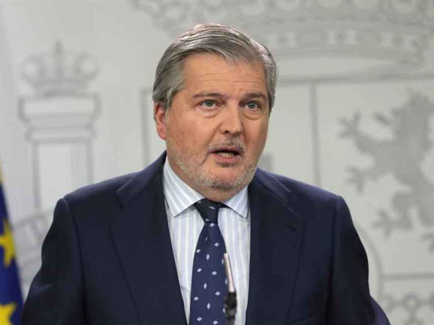 Méndez de Vigo en la rueda de prensa tras el Consejo de Ministros.