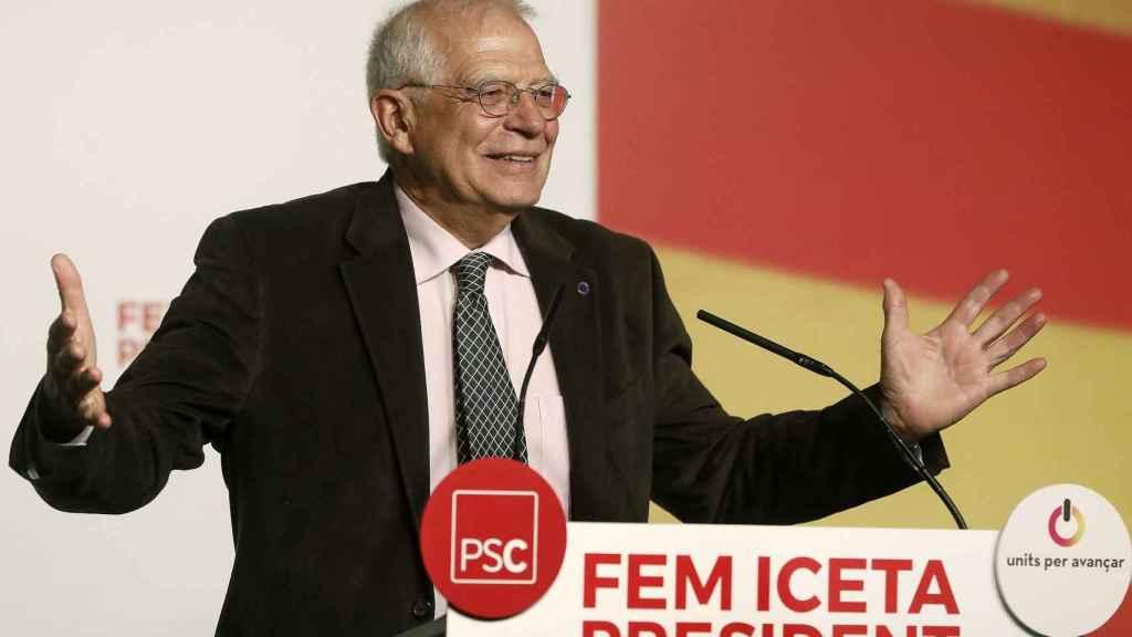 Borrell, en un mitin del PSC.