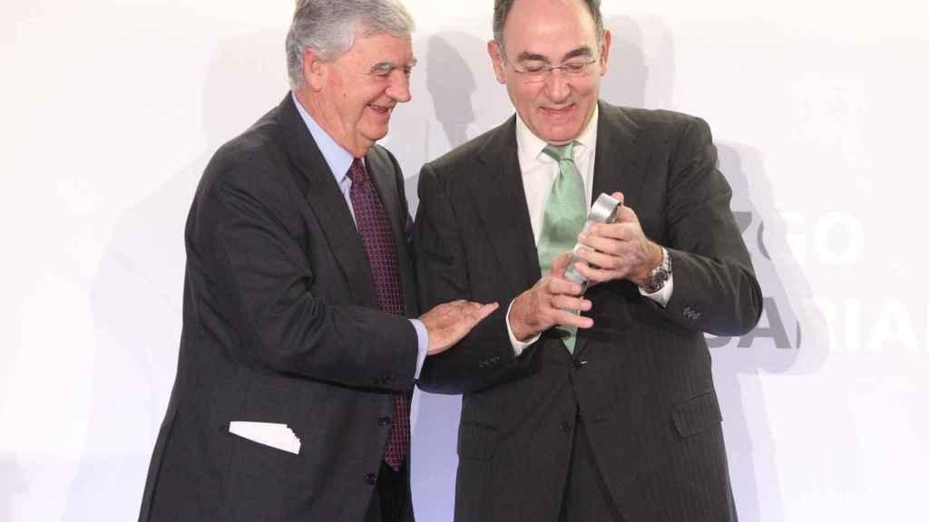 El presidente de Iberdrola, Ignacio Sánchez Galán, en la entrega de los premios del grupo Vocento.