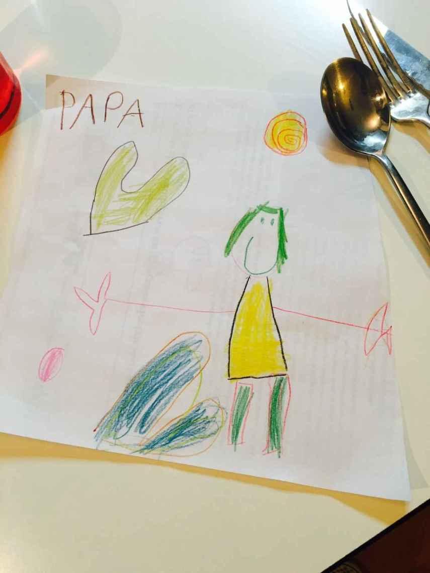 Un dibujo que le regaló uno de sus hijos.