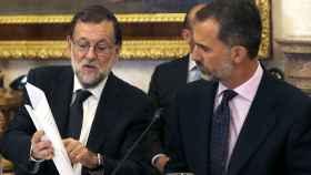 Felipe VI y Mariano Rajoy, durante un acto institucional.