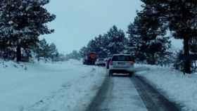 carretera nieve puerto cadenas frio 1