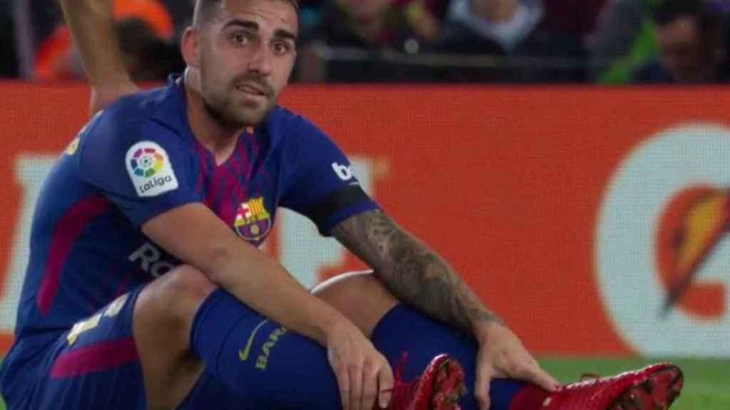 Paco Alcácer, lesionado ante el Deportivo de la Coruña. Foto: Twitter (@elchiringuitotv)