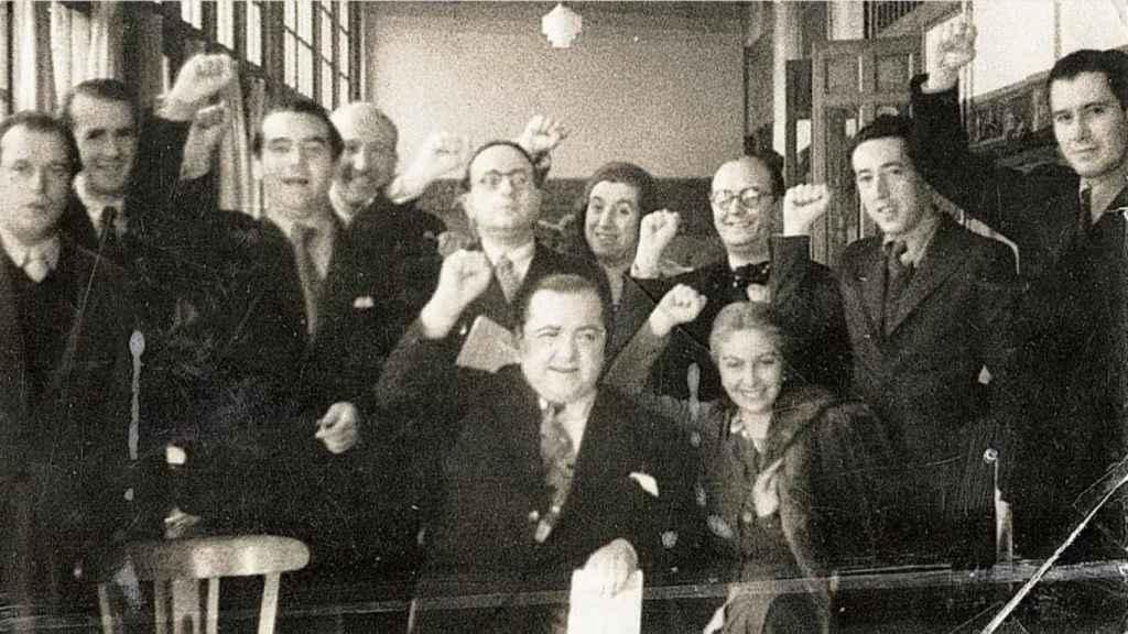 Miembros de la Generación del 27. Entre ellos, Concha Méndez y María Teresa León.