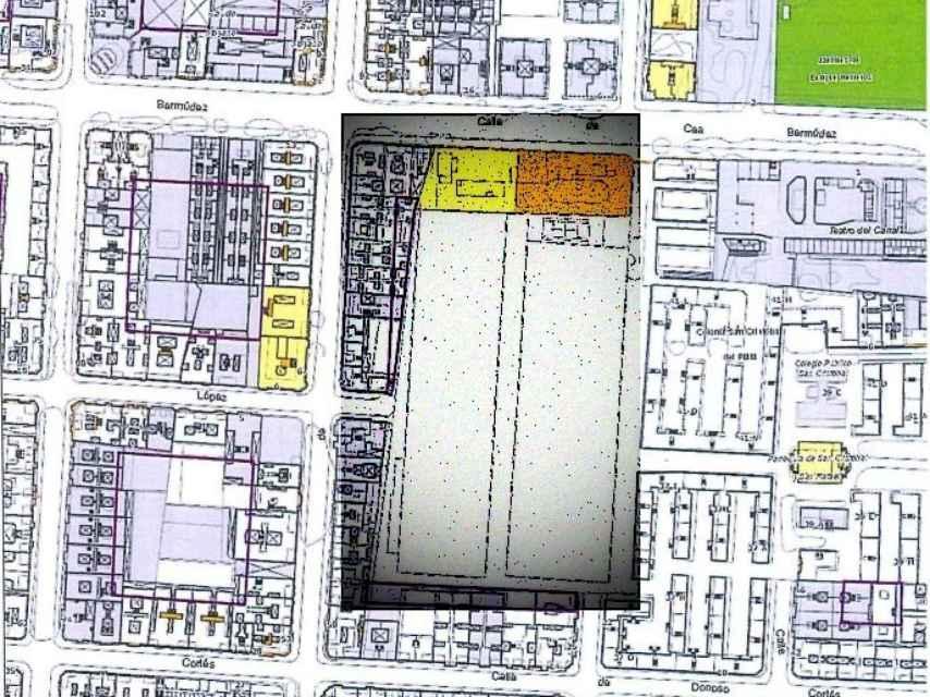 Plano del Parque Móvil del Estado, que Hacienda quiere hacer desaparecer.