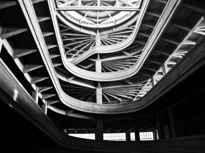 Interior de la fábrica de Fiat, en Lingotto, Turín.