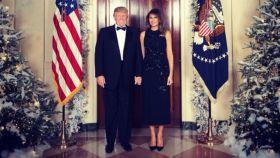 Donald Trump y su esposa Melania.
