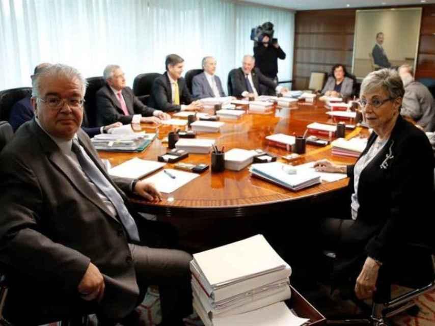Reunión del pleno del Tribunal Constitucional./