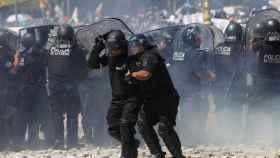 Protestas durante la huelga general en Buenos Aires