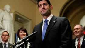 Paul Ryan, en una rueda de prensa después de la aprobación de la reforma