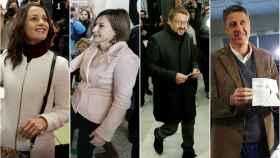 Los políticos han usado una paleta de colores muy sencilla.