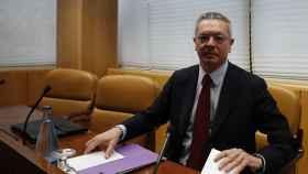 El expresidente de la Comunidad de Madrid, Alberto Ruiz-Gallardón, en la comisión de investigación de corrupción de la Asamblea.