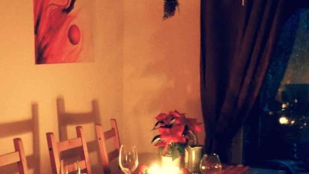 El salón decorado de Navidad de Stefanie.
