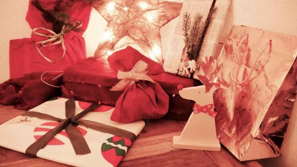 Rincón navideño en la casa de Stefanie.