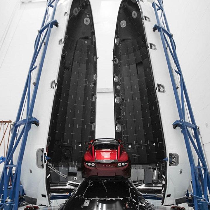 tesla roadster spacex 4