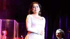 Isabel Pantoja durante uno de sus conciertos.