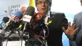 Puigdemont, en una rueda de prensa este viernes.