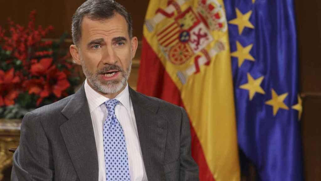 Felipe VI, durante su discurso.