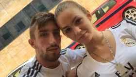 Andrea y Víctor cuando eran pareja.