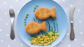 A veces es necesario disfrazar el pescado para que los niños lo acepten.