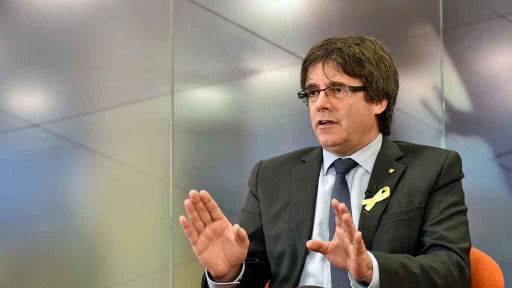 Puigdemont en una entrevista concedida en Bruselas.