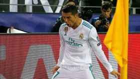 Cristiano Ronaldo celebra su doblete ante el Dortmund.