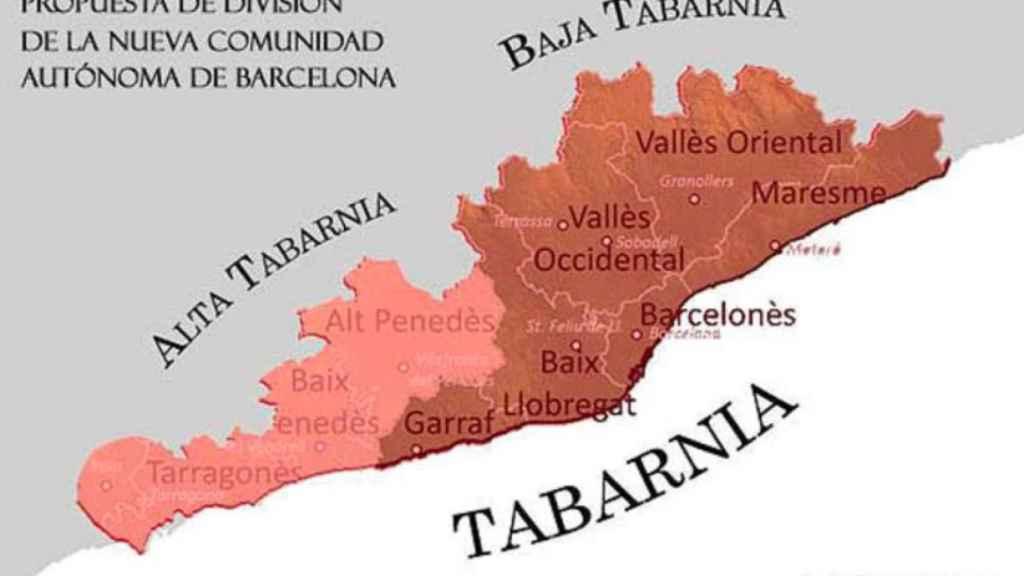 Estas son las comarcas de Tabarnia, según la plataforma que defiende su existencia