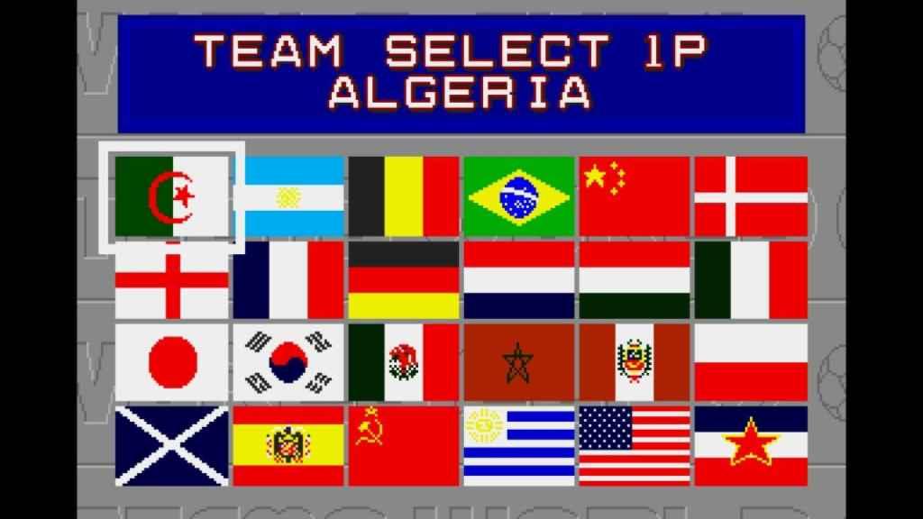El tecmo World Cup también incluía la bandera franquista.