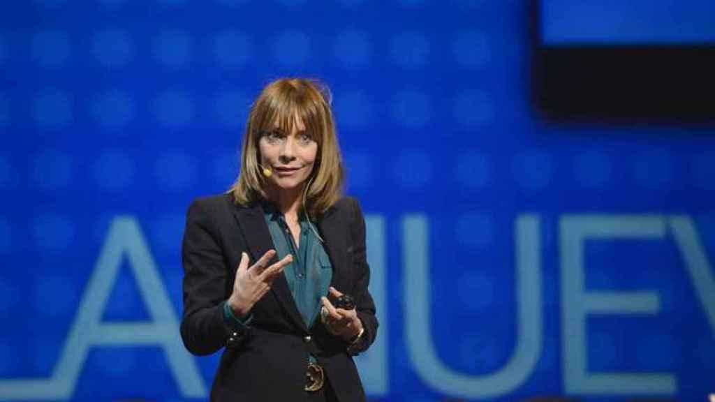 María Garaña en una presentación de Microsoft.