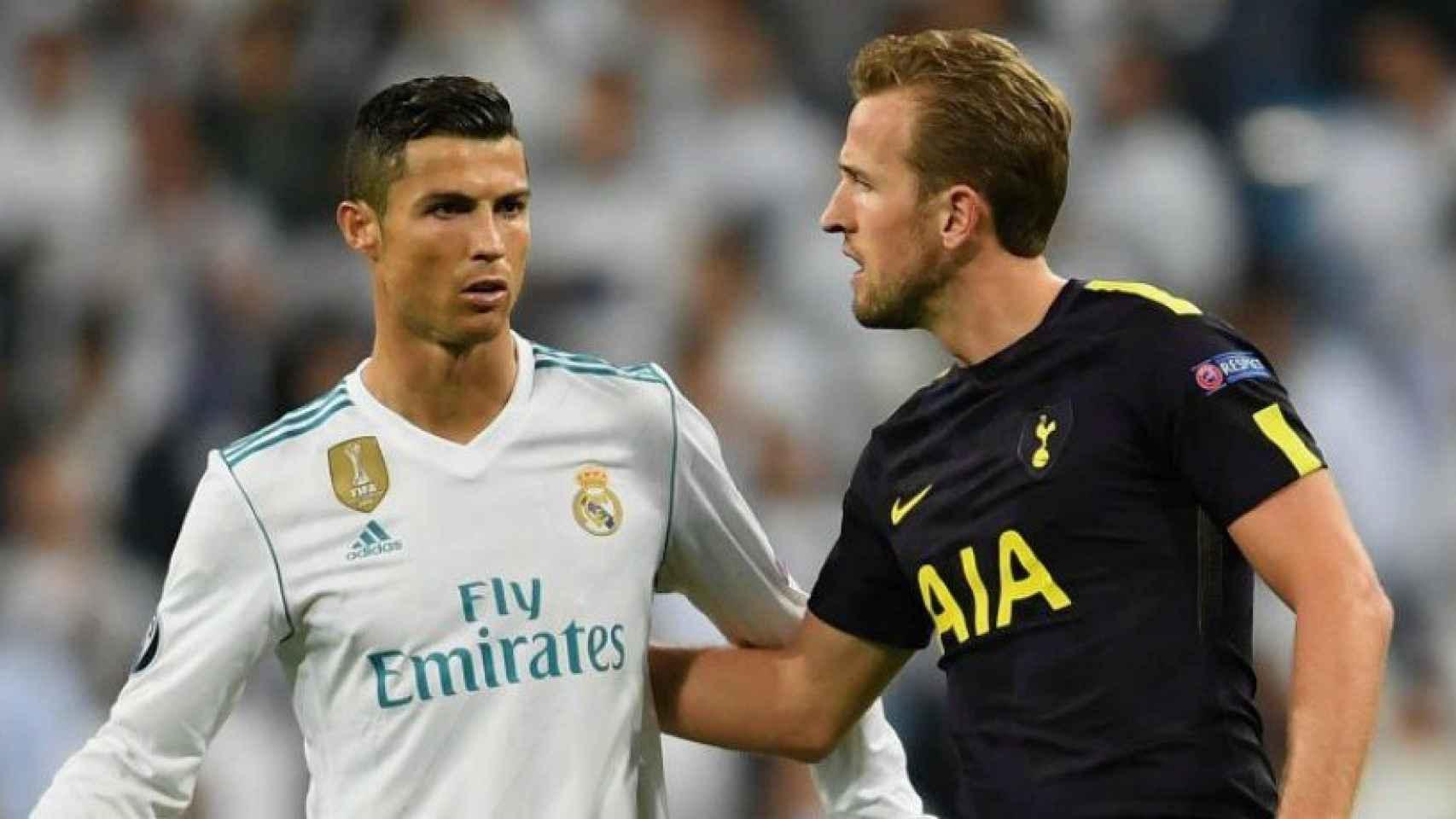 Cristiano y Kane. Foto Twitter (@Spurs_ES)