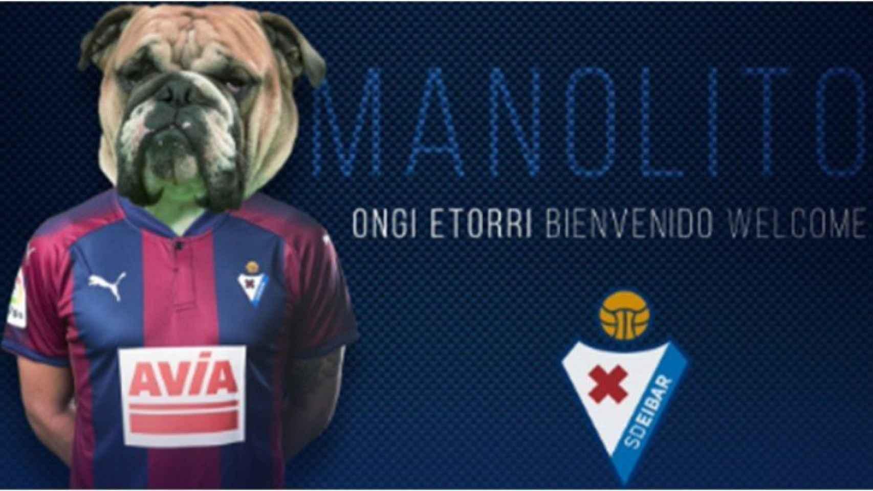 Manolito, el nuevo 'fichaje' del Eibar. Foto: Twitter (@SDEibar)
